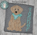 Chesapeake Bay Retriever Dog Applique Design ~  Golden Retriever Dog with Neck Scarf